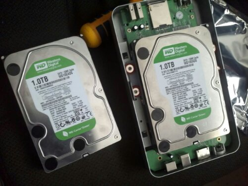 Brief hangup – mixed up hard drives